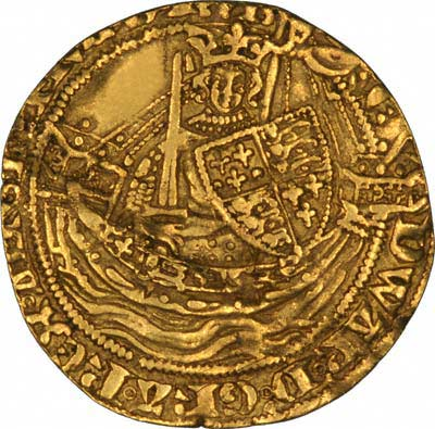 Reverse of Edward iii Gold Ryal or Rose Noble
