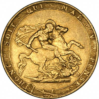 Reverse of 1818 George III Sovereign