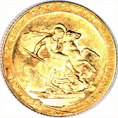 Reverse of 1820 George III Sovereign