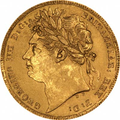 Obverse of 1824 George IV Sovereign