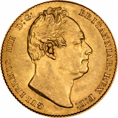 Obverse of William IV Sovereign