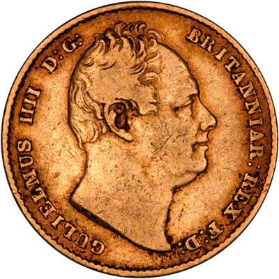 Obverse of 1835 Sovereign