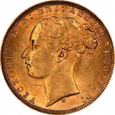 Obverse of 1821 George IV Sovereign