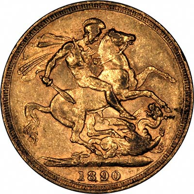 Reverse of First Type Victoria Jubilee Sovereign