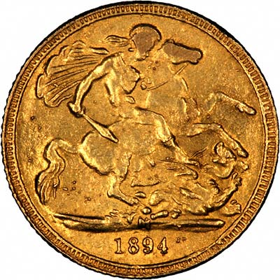 Very Obvious Fake Victoria Half Sovereign Reverse