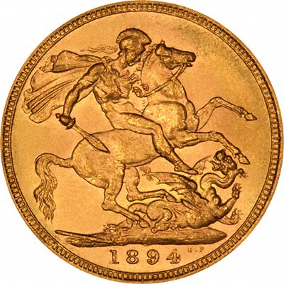 Obverse of Victoria Old Head Sovereign