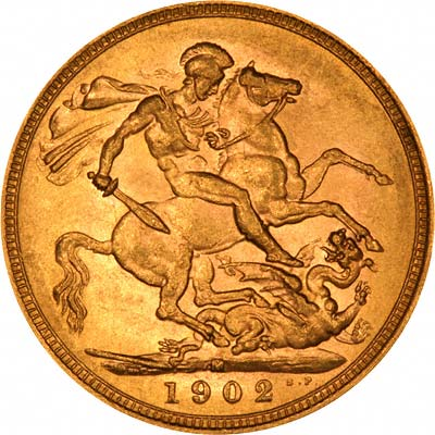 Reverse of 1902 Melbourne Mint Sovereign