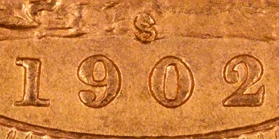 1902 Sydney Mint Sovereign - Close Up of Date