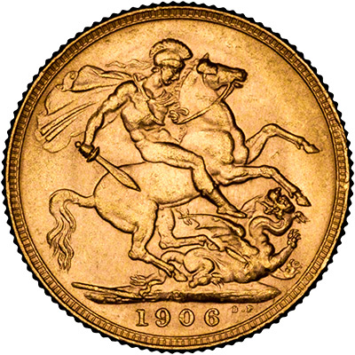 Reverse of 1906 Perth Mint  Sovereign