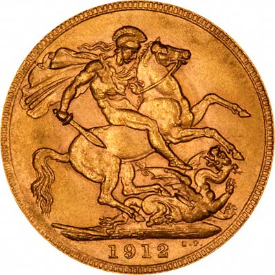 Reverse of 1912 Perth Mint Sovereign