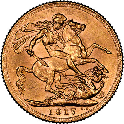 Reverse of 1917 Canada Mint Sovereign