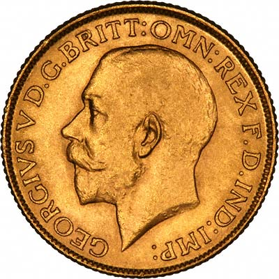 Obverse of 1916 Gold Sovereign