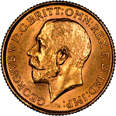 1919 C Sovereign - Milled Edge OBV