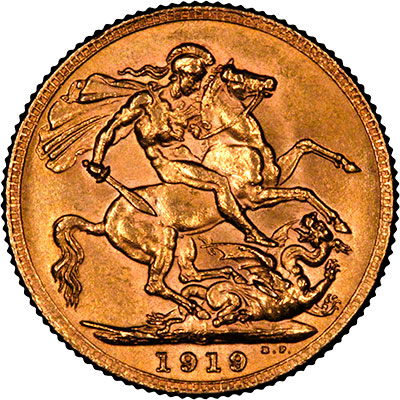 1919 Reverse of Canada Mint Sovereign