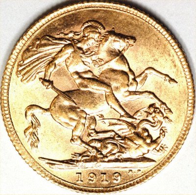 Reverse of Genuine 1919 Canada Mint Sovereign - But Used Without our Permission