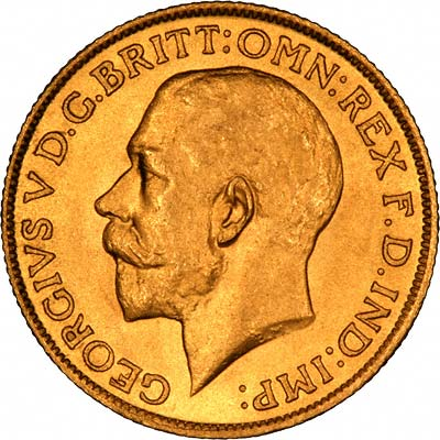 Obverse of 1926 Gold Sovereign