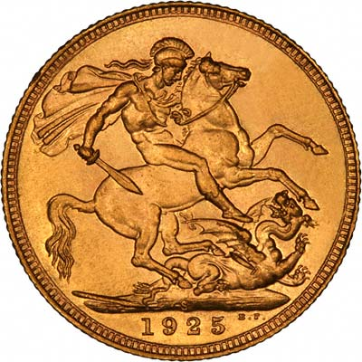 Reverse of 1924 Sydney Mint Sovereign