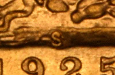 Close-up Showing Mintmark and Date