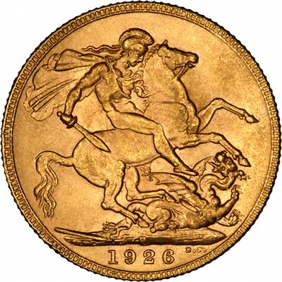 Reverse of 1926 P = Perth Mint Sovereign
