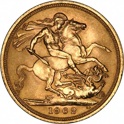 Our 1962 Mint Gold Sovereign Reverse Photograph