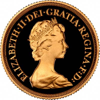 Second Portrait on Obverse of 1979 Proof Sovereign