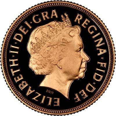 Obverse of 2010 Proof Sovereign