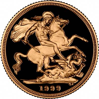 Reverse of 1999 Proof Sovereign