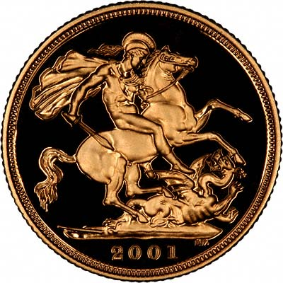 Reverse of 2001 Proof Sovereign
