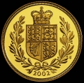 Shield Reverse of 2002 Golden Jubilee Gold Sovereign
