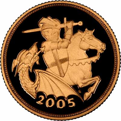 Reverse of 2005 Proof Sovereign