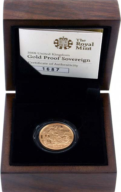 2008 Proof Sovereign in New Presentation Box
