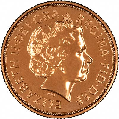 Obverse of 2008 Uncirculated Sovereign