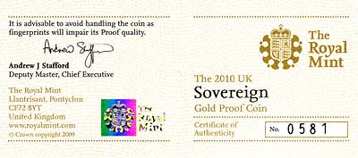 Proof Sovereign Certificate