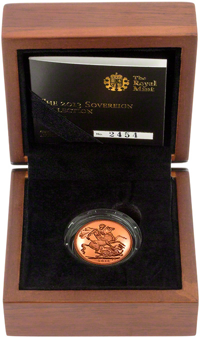 2013 Gold Proof Sovereign in Presentation Box