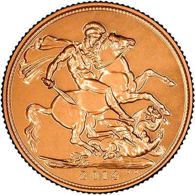 Reverse of 2014 Gold Sovereign
