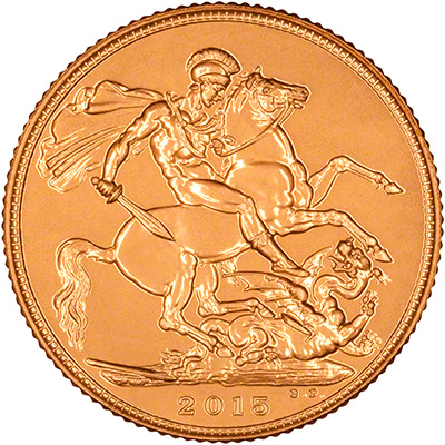 Reverse of 2015 Gold Sovereign