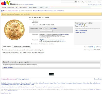 paola3507 1974 Gold full sovereign Elizabeth II eBay Auction Listing